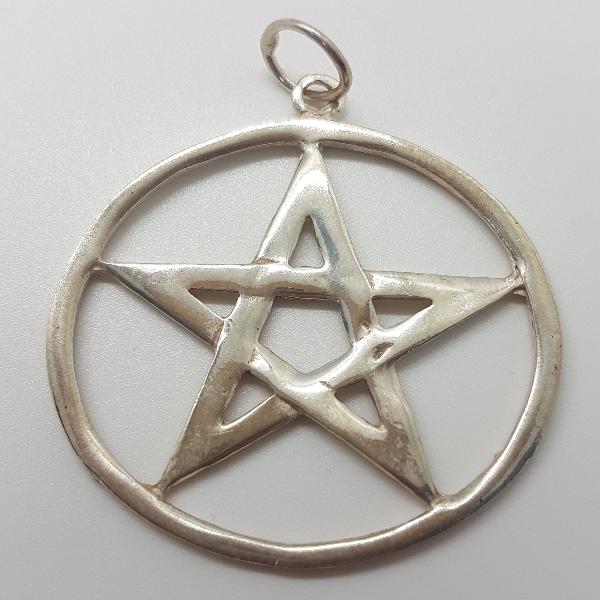 colgante de plata pentagrama.3,5 cm