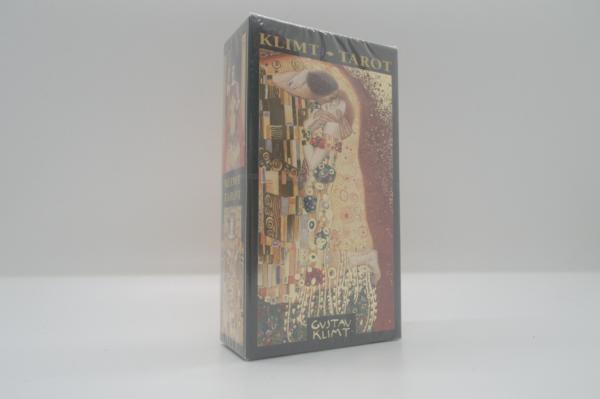 baraja de cartas tarot dorado de Klimt