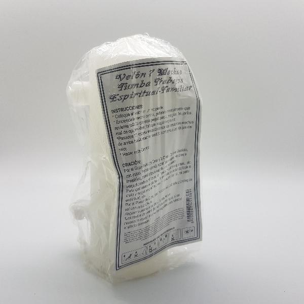 velon blanco de 7 mechas.limpiador energetico
